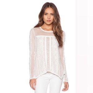 BCBG Max Azria Addyson White Lace Long Sleeve